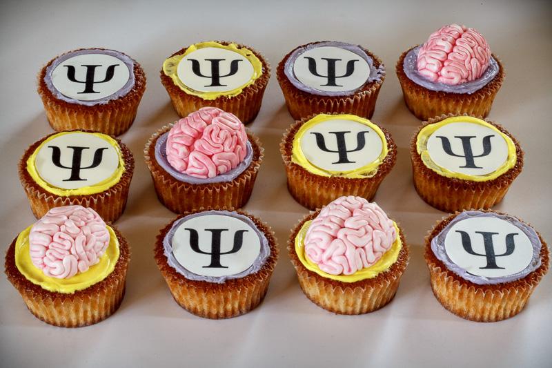 Cupcakes med psykologi tema