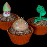 Plants vs. Zombies cupcakes
