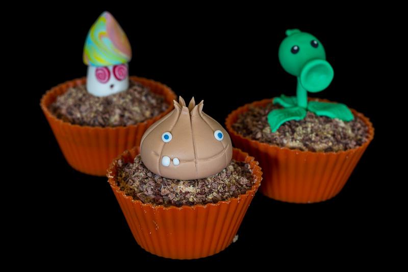 Plants vs. Zombies hvidløg, ærteskyder og hypno svamp