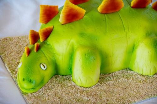 Stegosaurus nærbillede af forkrop og hoved
