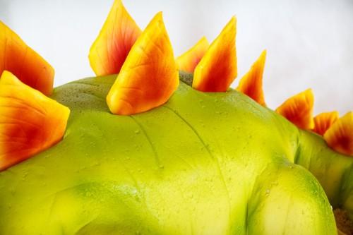 Stegosaurus nærbillede af rygpigge
