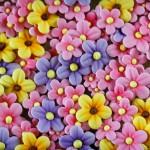 Gumpaste blomster i massevis