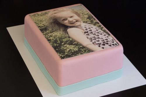 Kage med foto sukkerprint