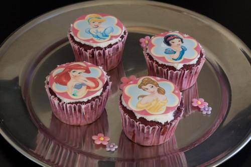 Cupcakes med Disney sukkerprint