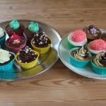Blandede cupcakes