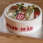 Fødselsdagskage med One Direction kageprint
