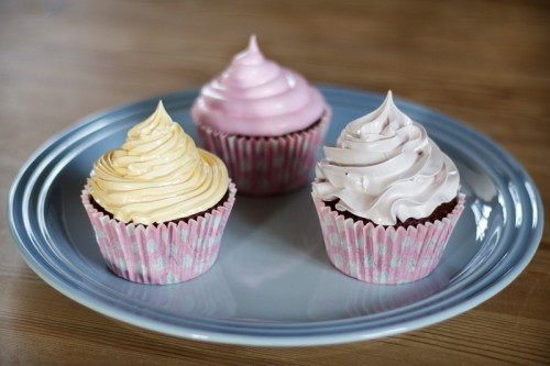 Cupcakes med marshmallow frosting