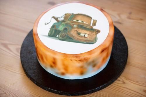 Dumle Bumle kage med sukkerprint