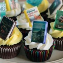 Bibliotek cupcakes, nærbillede