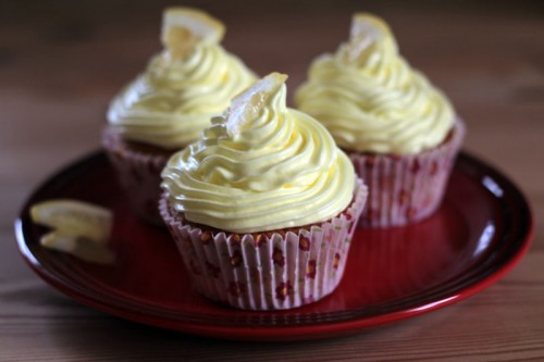 Citron cupcakes med citron guf