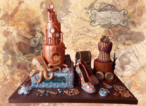 Steampunk 3D-kage