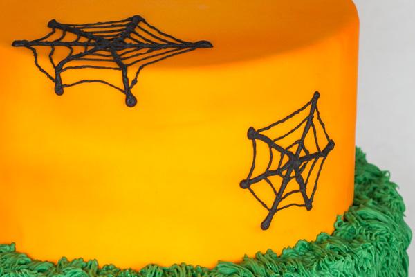 Nærbillede af halloween kage