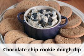 Link til chocolate chip cookie dough dip opskrift
