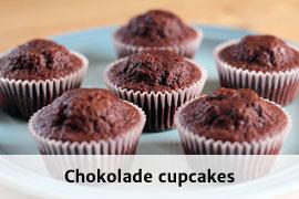Link til chokolade cupcakes opskrift